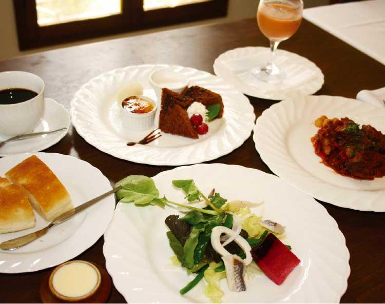 スペイン料理店バスクのランチコースメニュー