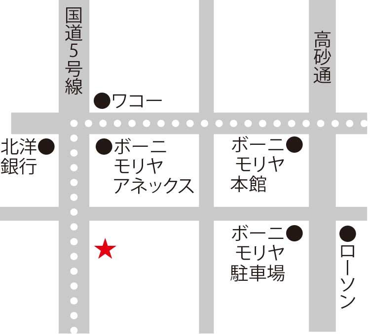 ホテルリソル函館周辺地図