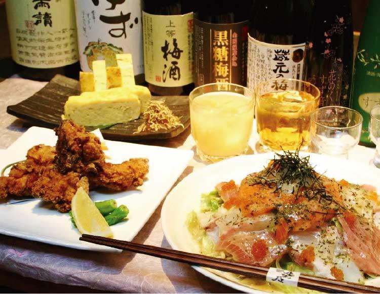 Hakodate Dining備後屋のつまみと各種お酒