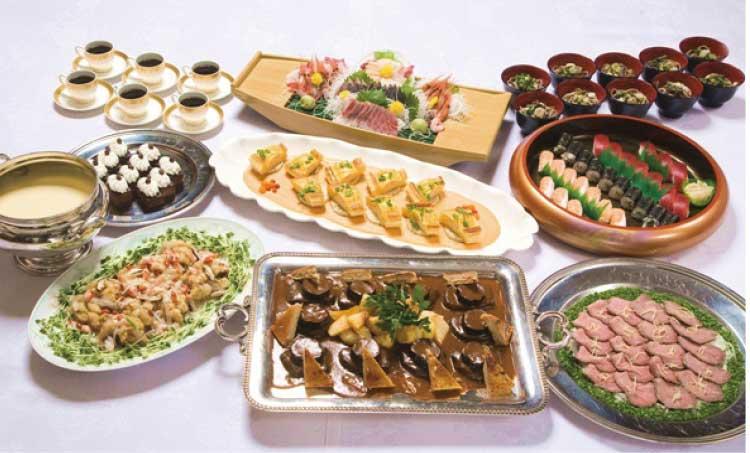 五島軒の6000円の宴会プラン料理