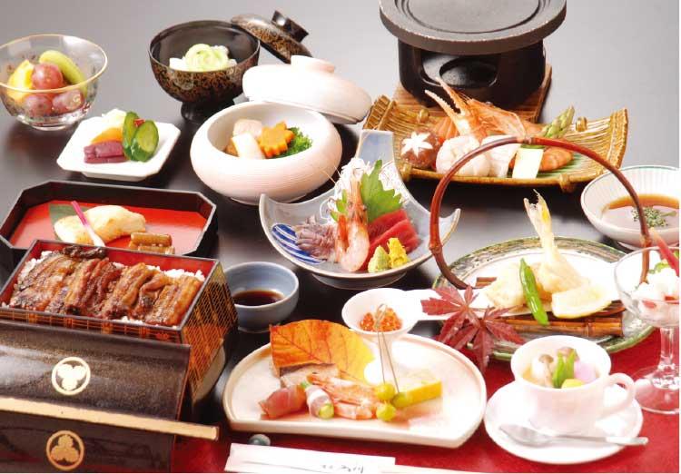 湯元入川の6000円海鮮陶板焼きコース料理