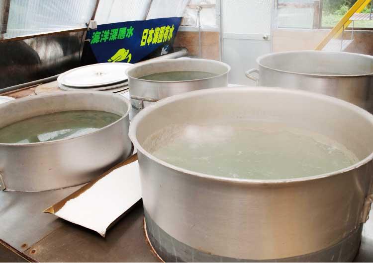 熊石海洋深層水株式会社の塩製作工場
