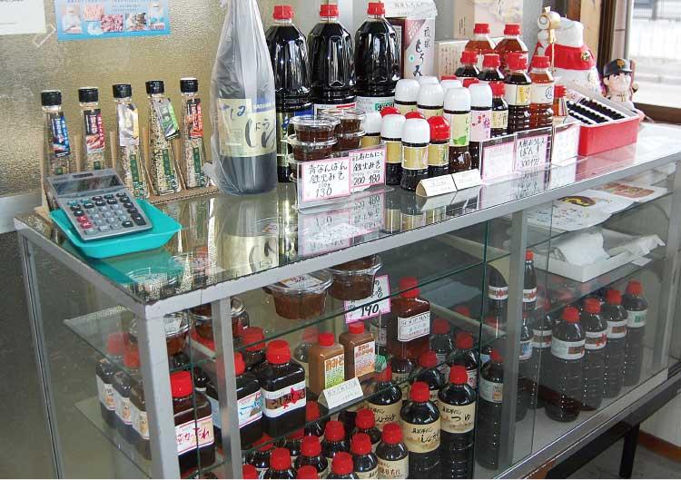 道南食糧工業株式会社の製品販売コーナー