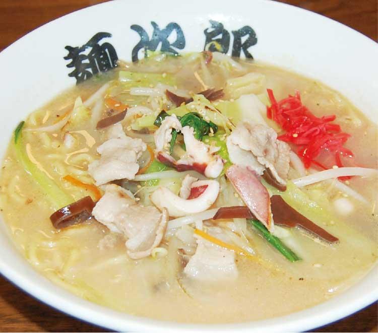 ラーメン専科麺次郎田家店のチャンポン麺