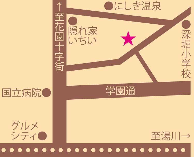 パティスリーカフェショコラ周辺地図