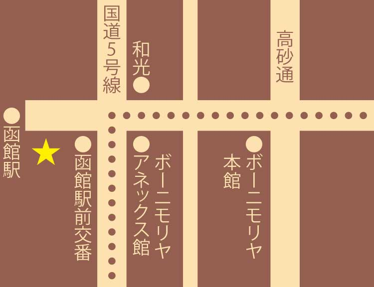 ロワジールホテル・ティーサロンマーブルラウンジ周辺地図