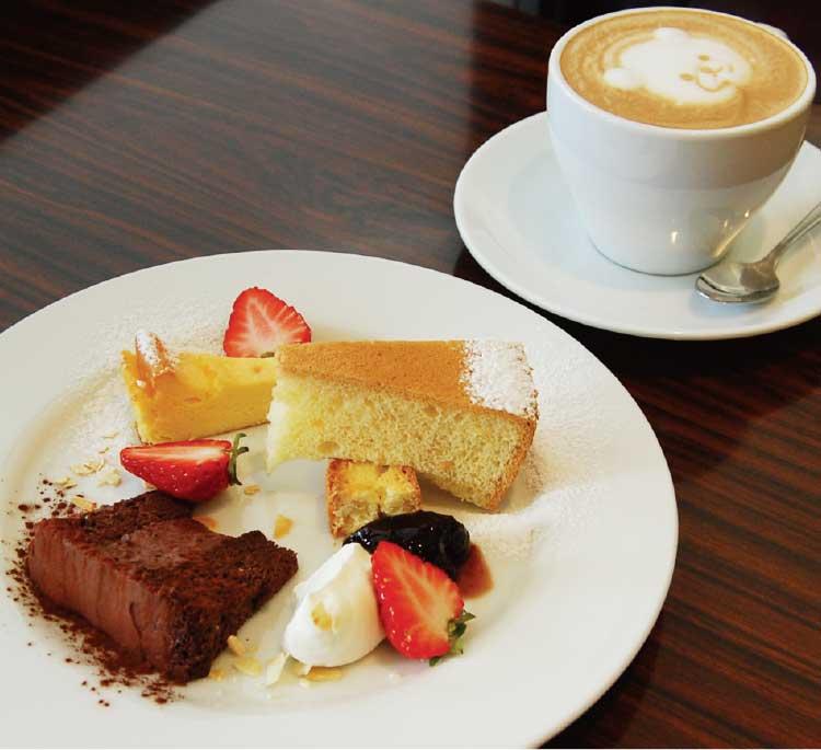 オールドニュー カフェの少しずついろいろデザート盛り合わせセット
