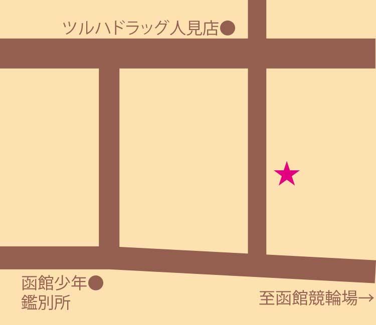ペシェ・ミニヨン周辺地図