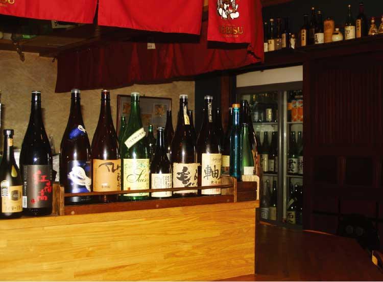 二代目佐平次で扱っている沢山の日本酒