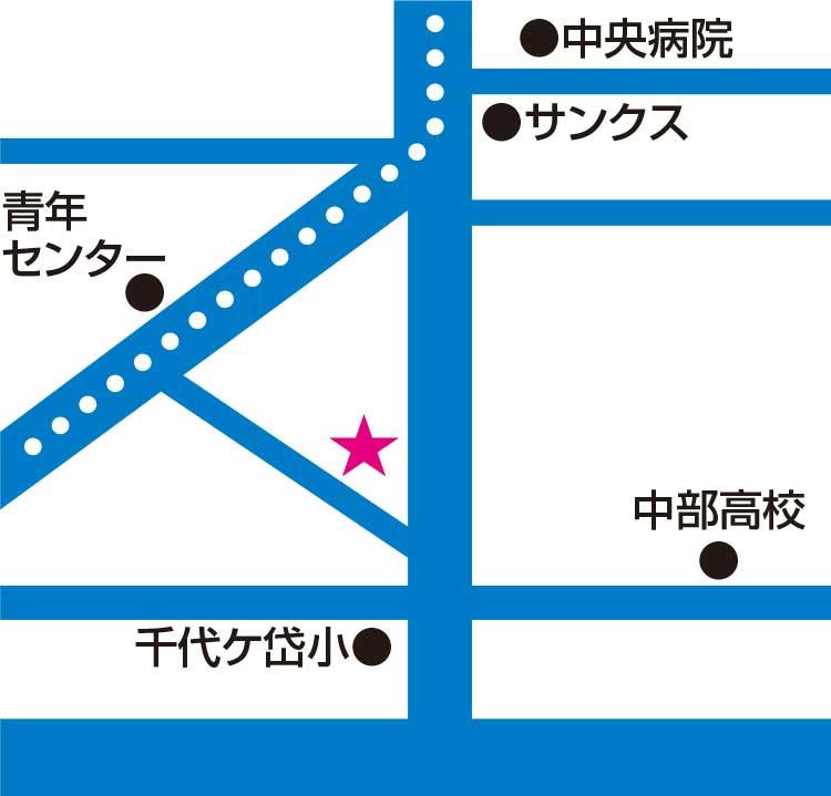 バラエティショップあさひや周辺地図