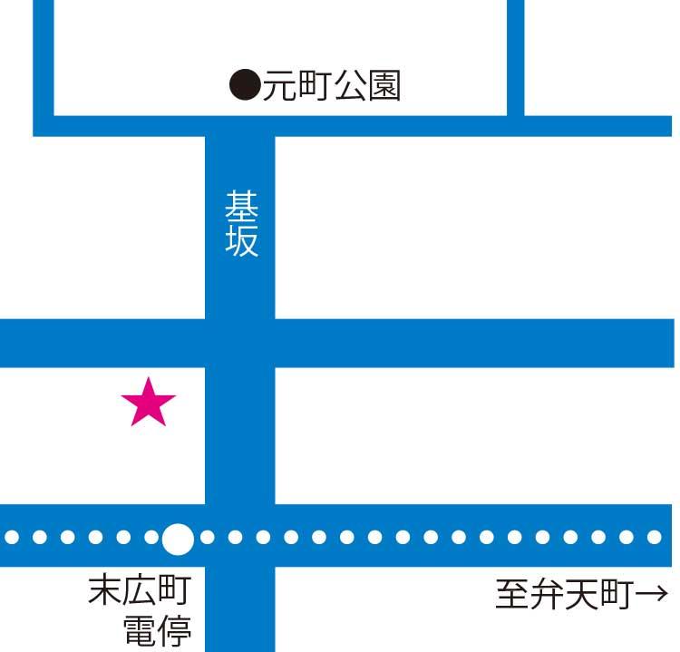 ミ・カーサ周辺地図