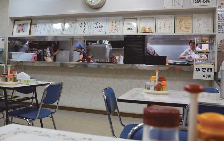 函館中央警察署内道警食堂店内