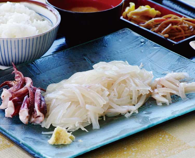 魚いち亭のイカ刺し定食