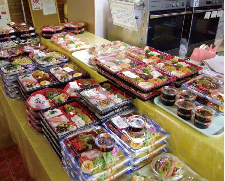 函館市役所庁舎内食堂のお弁当コーナー