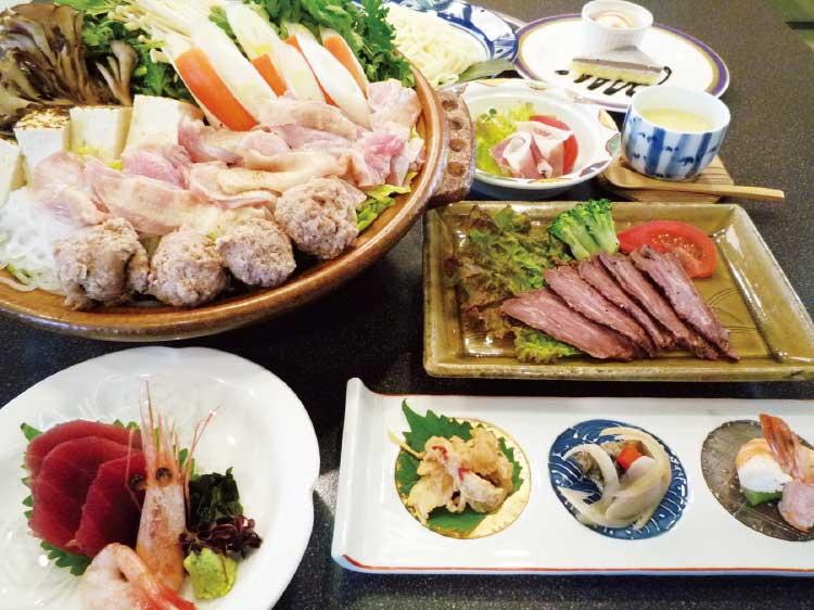 ホテルリソル函館のあったか鍋の忘新年会プラン料理