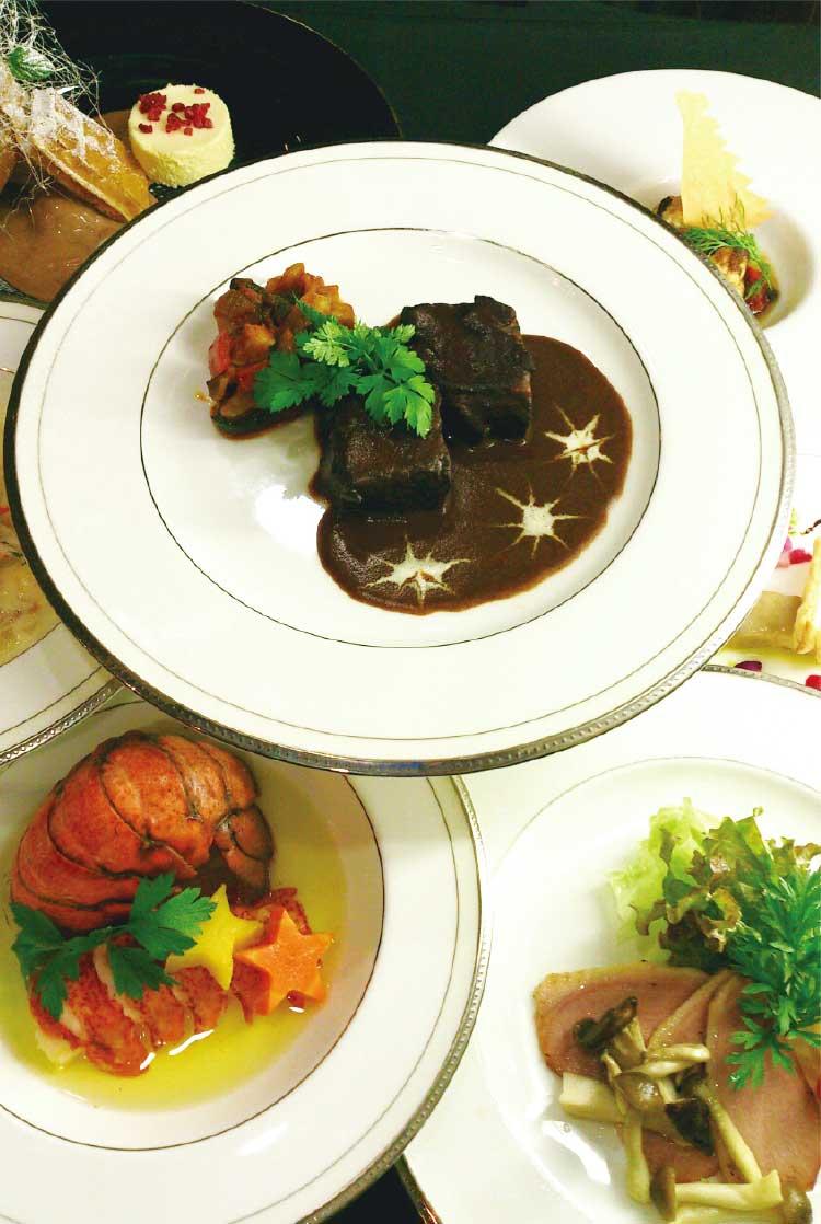 みなとの森のクリスマスディナー料理