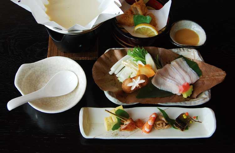 四季海鮮旬花のお昼の会席メニュー