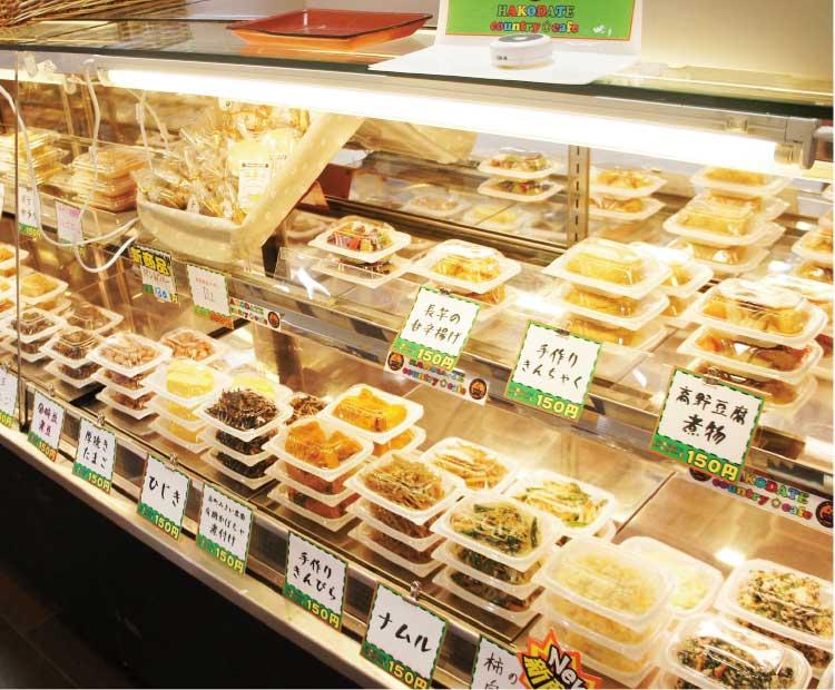 函館カントリーカフェのお惣菜コーナー