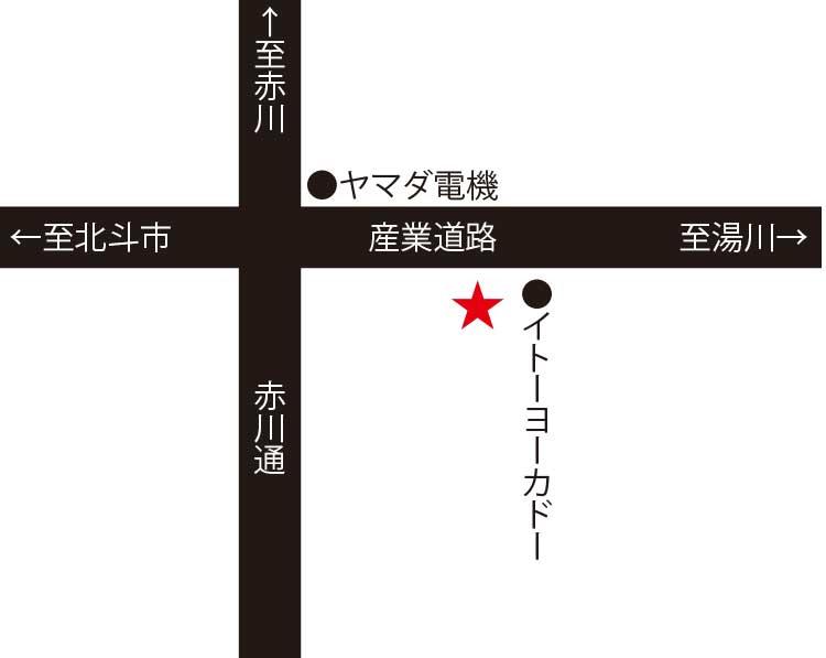 函館カントリーカフェ周辺地図