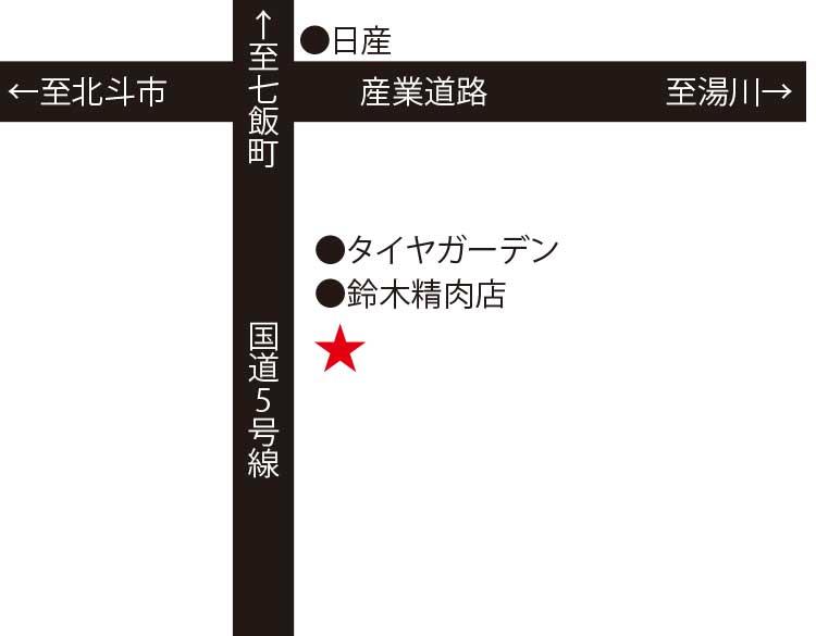 レストランレアール周辺地図