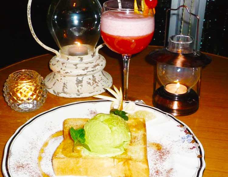 ホテルリソル函館 Bar Twilightのメープルトースト・新緑