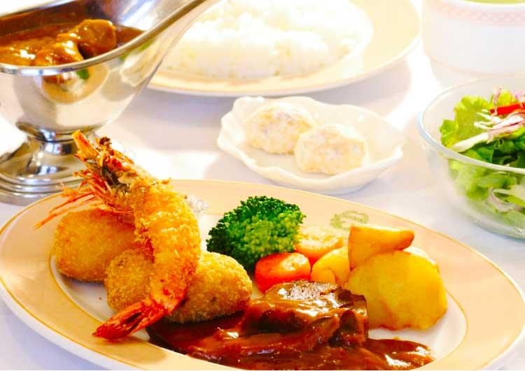 五島軒の明治の洋食&カレーセット