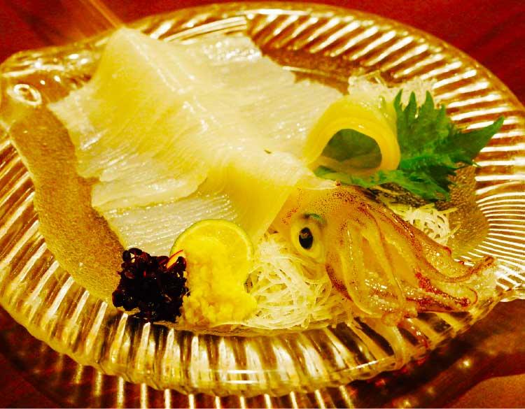 活魚料理いか清のスルメイカ