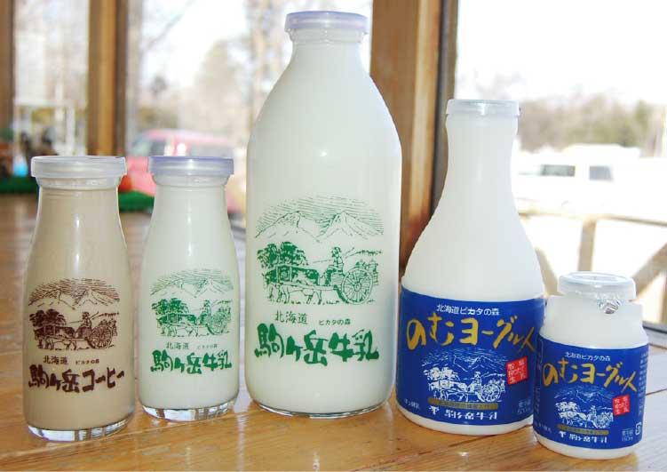 駒ケ岳牛乳・ピカタの森アイス工房の牛乳とのむヨーグルト