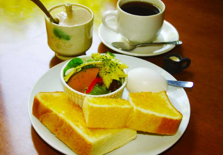 喫茶想苑のモーニングサービス