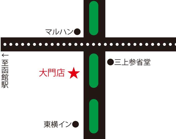 とんき大門店周辺地図