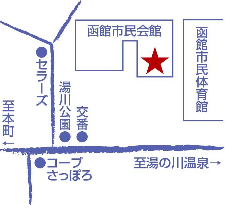 四季彩湯の川稜雲亭周辺地図