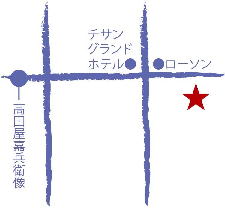 天ぷらてんや周辺地図
