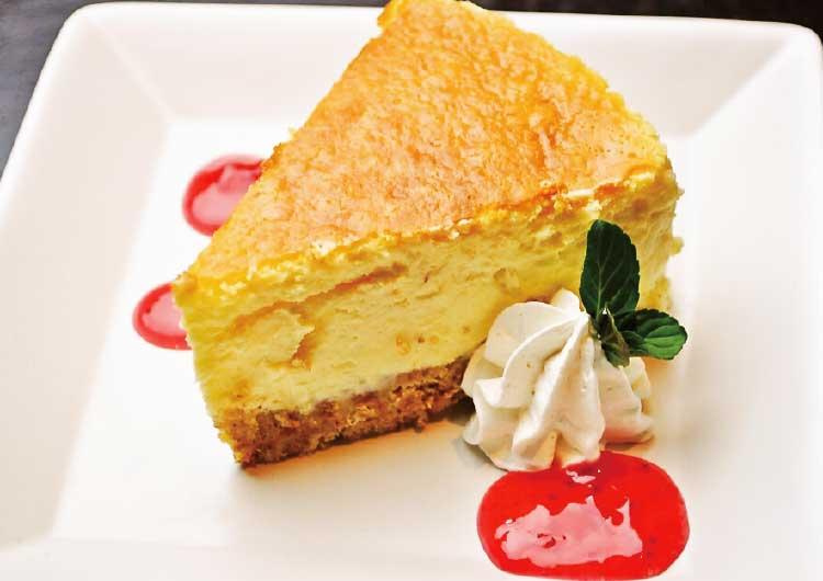 エバーグリーンのチーズケーキ