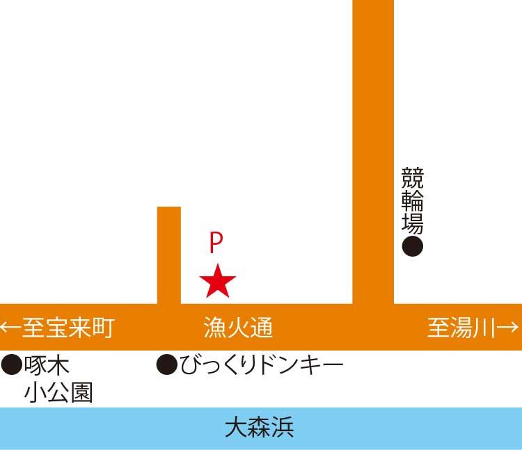 函館のロビン周辺地図