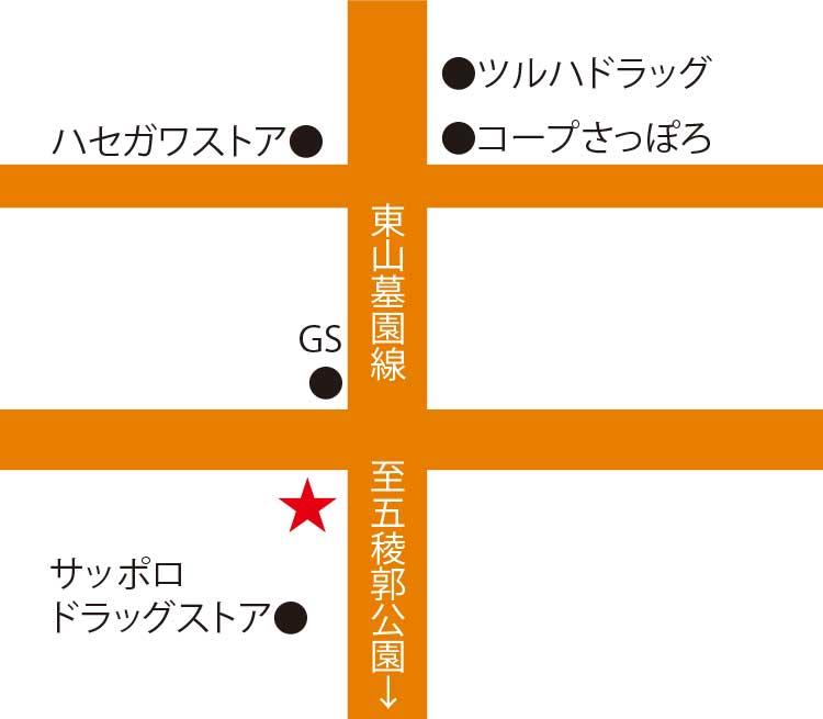 FOODING CAFE es周辺地図