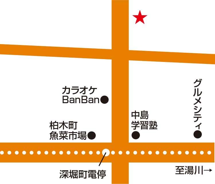 カフェ&レストランビーズ・ビー周辺地図