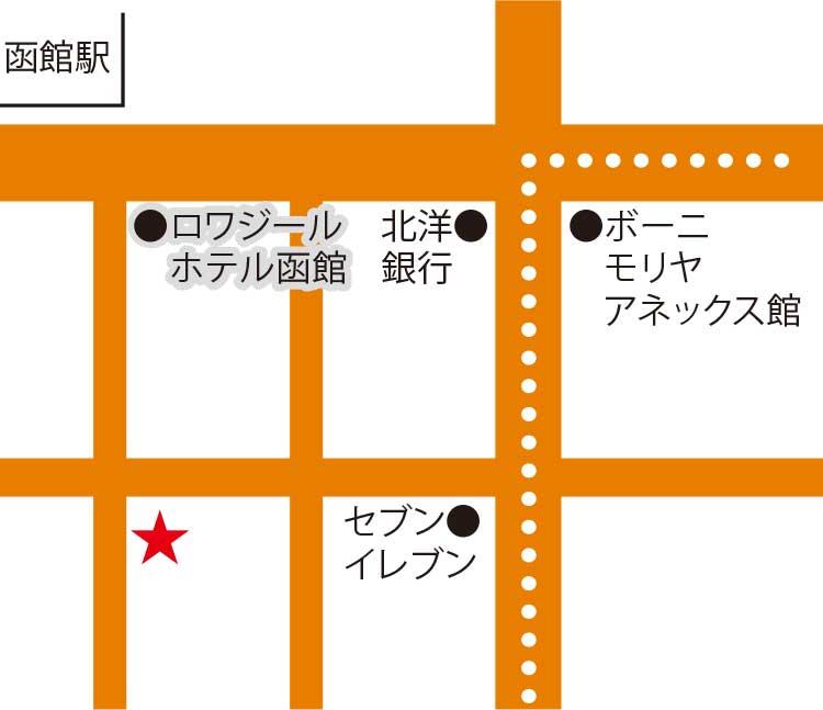 函館ダイニング雅家周辺地図