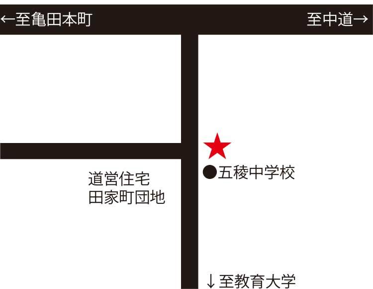 麺次郎田家店周辺地図
