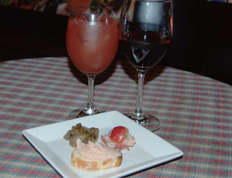 Bar木下酒店のワインとカクテルとおつまみの3点盛り