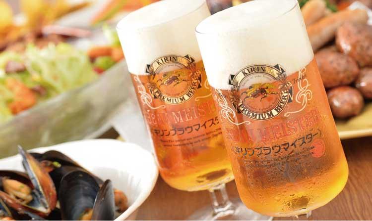 キッチンルームSHIKIの生ビール