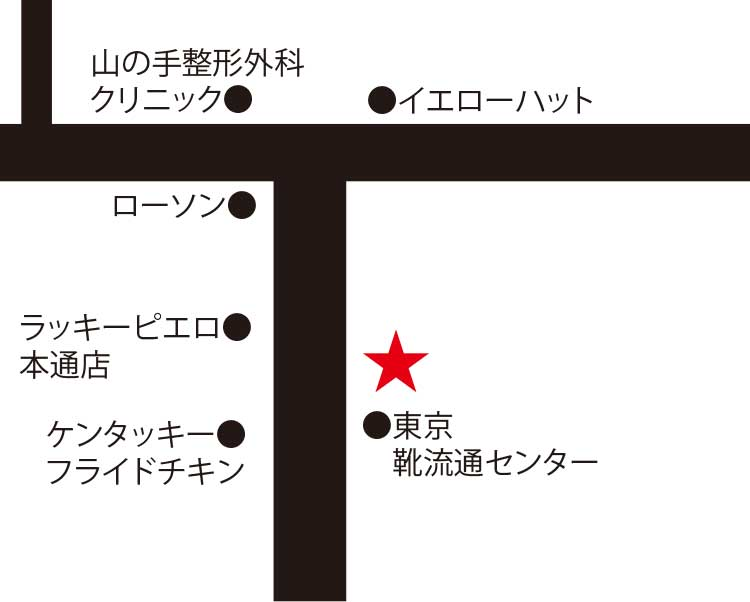 焼肉一徳本通店周辺地図