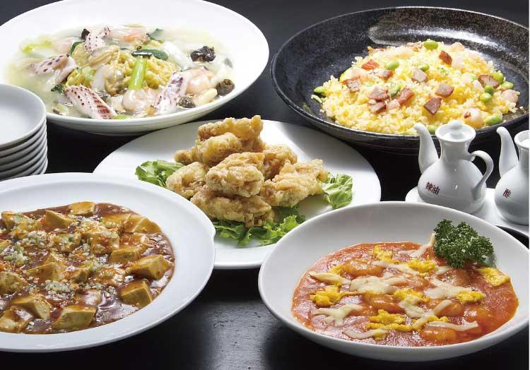 中国料理彩風塘のファミリープラン集い料理