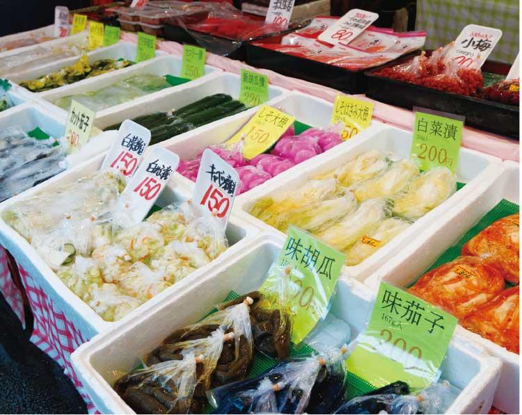 中村商店の各種漬物