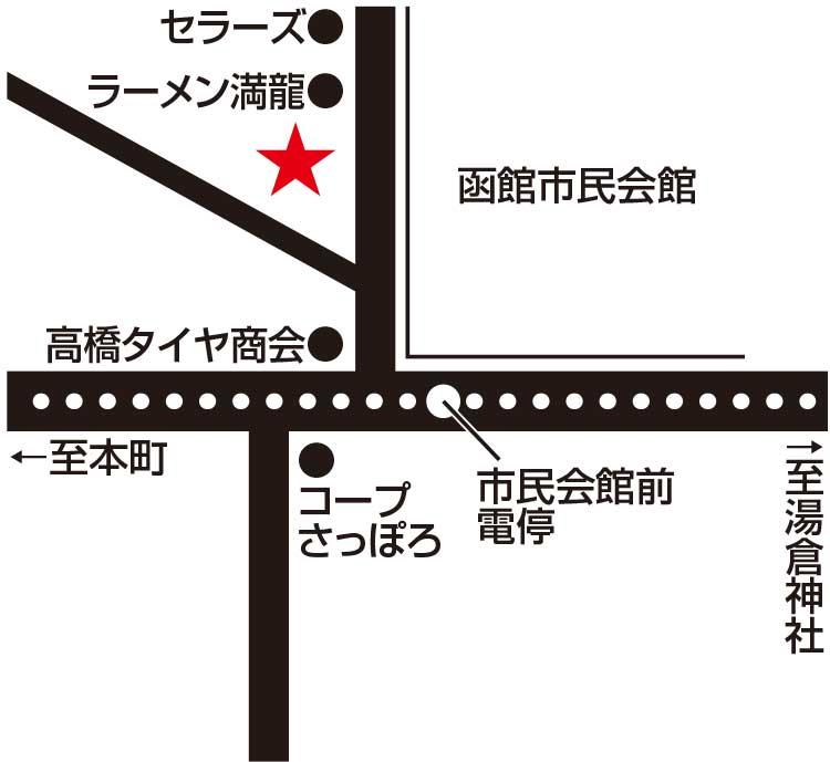 肉の松葉屋周辺地図