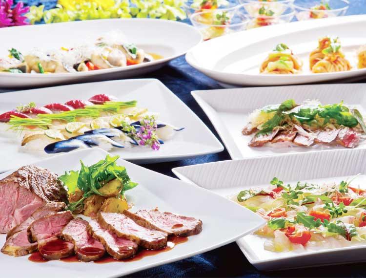 ウイニングホテルの宴会料理