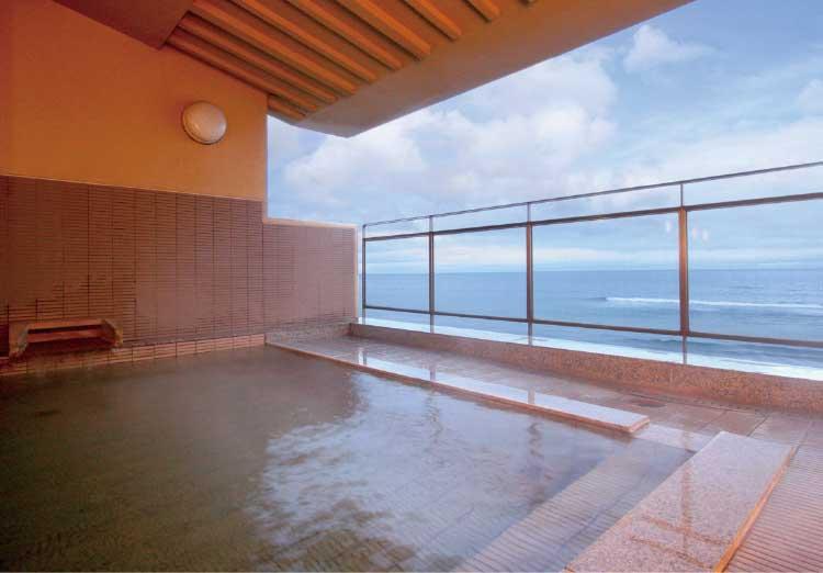 割烹旅館若松の露天風呂