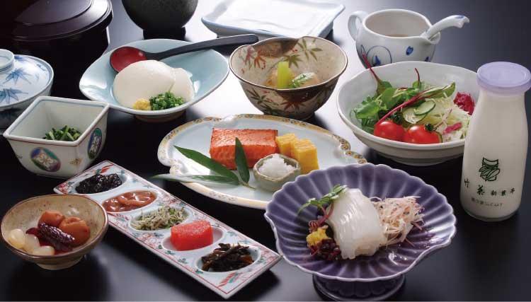 竹葉新葉亭の朝食