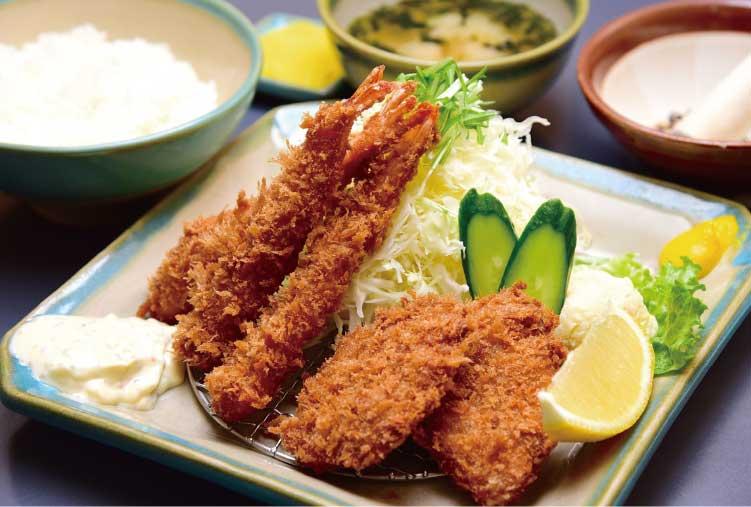 とんきの海老フライ・ヒレカツ定食