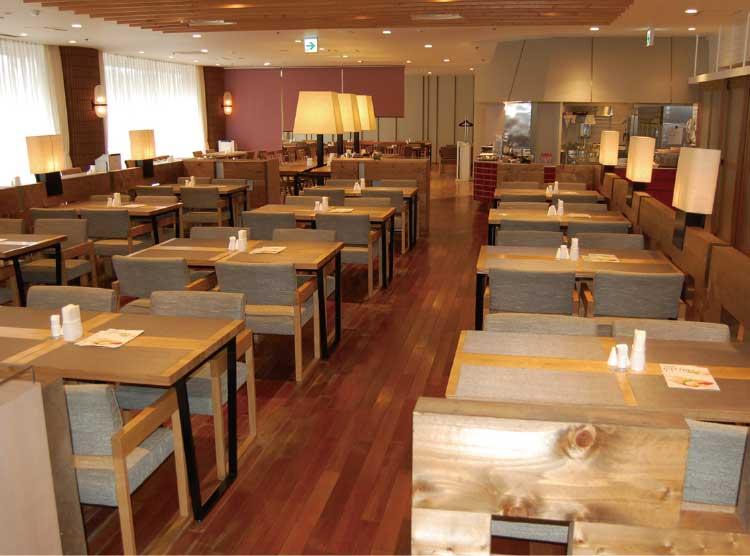 函館国際ホテル1階アゼリア店内