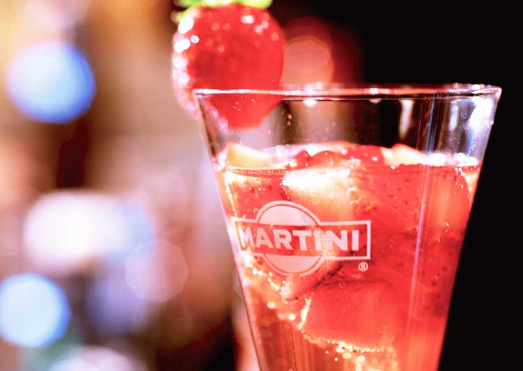 Bar evitのフレッシュ苺のレオナルド
